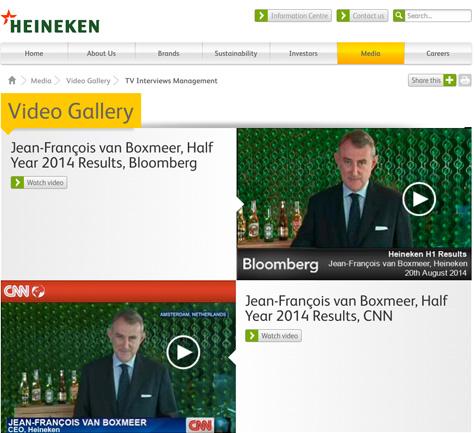 Heineken Video Gallery